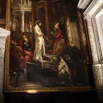 Cristo davanti a Pilato, 1566/67, (380×515 cm), Sala dell´Albergo, Scuola Grande di San Rocco, Venice, Italy